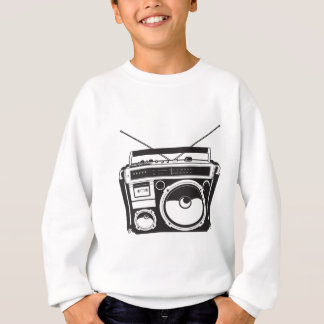 ☞ boom box Oldschool/cartridge player Sweatshirt