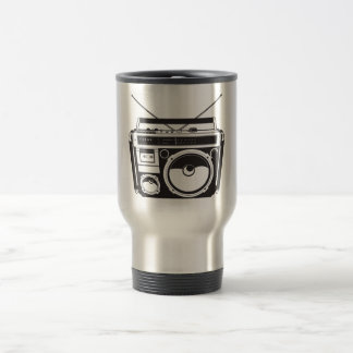 ☞ boom box Oldschool/cartridge player Travel Mug
