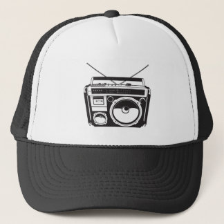 ☞ boom box Oldschool/cartridge player Trucker Hat