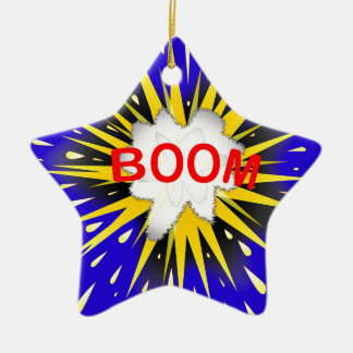 Boom Cartoon Bubble Ceramic Ornament