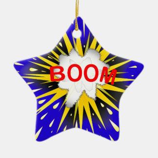 Boom Cartoon Bubble Ceramic Star Ornament