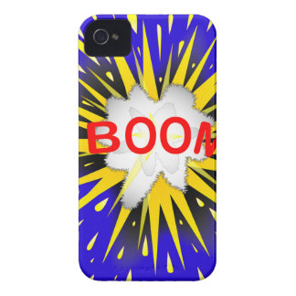 Boom Cartoon Bubble iPhone 4 Case-Mate Cases