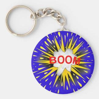 Boom Cartoon Bubble Keychain