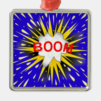 Boom Cartoon Bubble Metal Ornament