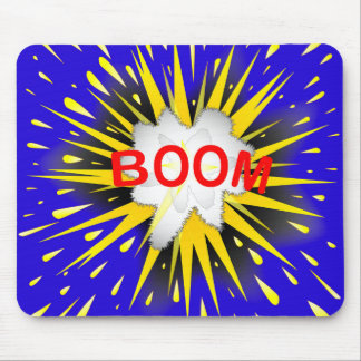 Boom Cartoon Bubble Mouse Pad