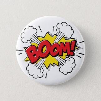 Boom Cartoon Design 2 Inch Round Button