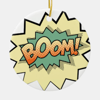 boom ceramic ornament
