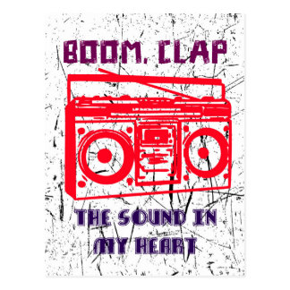 Boom, clap - the sound in my heart postcard