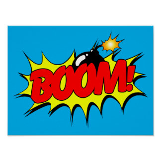 Boom - Comic Sign / Poster