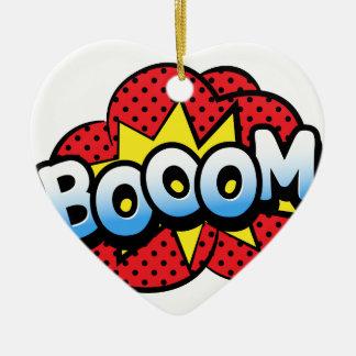 Boom dynamite ceramic heart ornament
