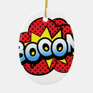 Boom dynamite ceramic oval ornament