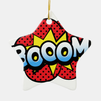 Boom dynamite ceramic star ornament