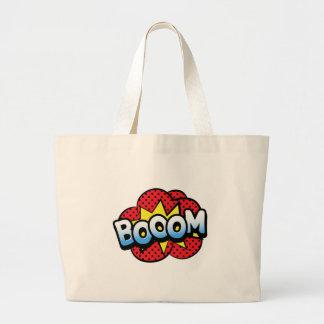 Boom dynamite large tote bag