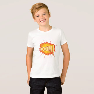 Boom explosion print tshirt for kids