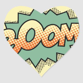 boom heart sticker