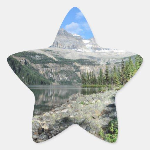 Boom Lake National Park British Columbia Canada Star Sticker