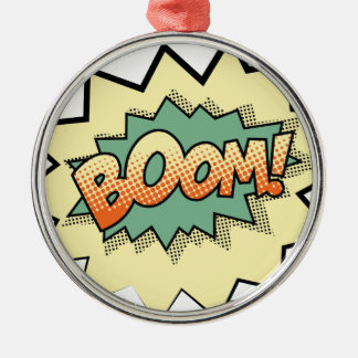 boom metal ornament
