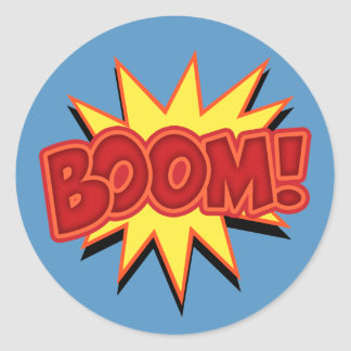 Boom! Round Sticker