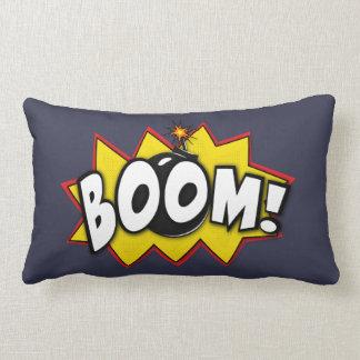 Boom Superhero Comic Action Words Lumbar Pillow