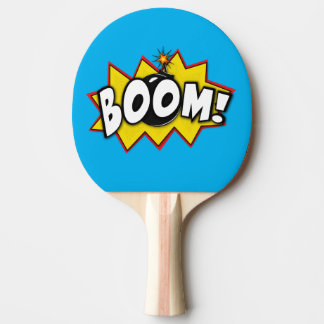 Boom Superhero Comic Action Words Ping Pong Paddle