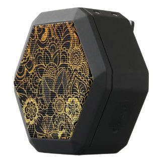 Boombot Rex Floral Doodle Gold G523 Black Bluetooth Speaker