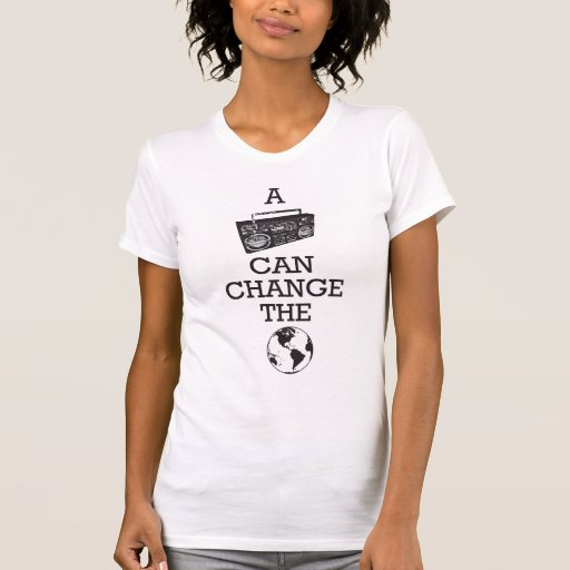 Boombox Can Change the World Tees