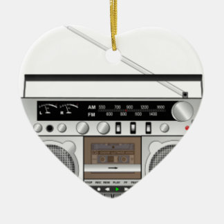 Boombox Ceramic Ornament