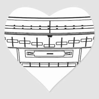 boombox heart sticker