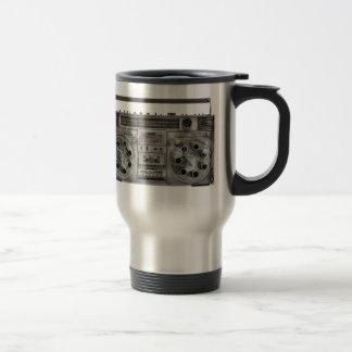 Boombox machine gun 15 oz stainless steel travel mug