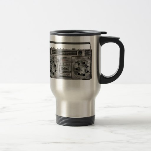 Boombox machine gun coffee mug