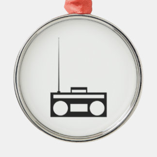 Boombox Metal Ornament