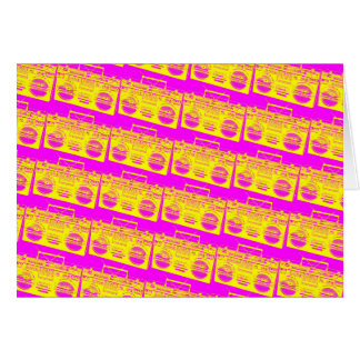 Boombox Pattern Card