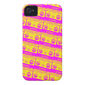 Boombox Pattern iPhone 4 Case-Mate Case