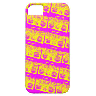 Boombox Pattern iPhone 5 Case