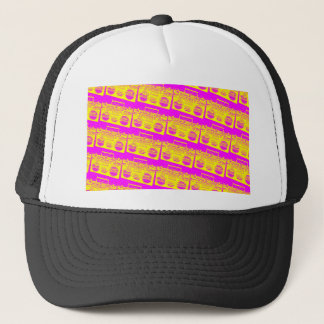 Boombox Pattern Trucker Hat