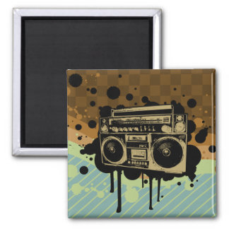 BoomBox Square Magnet