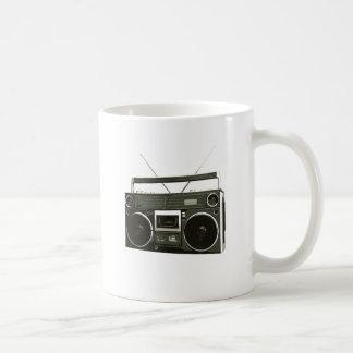 Boombox Stereo Radio Classic White Coffee Mug