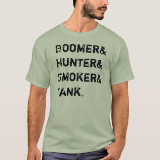 Boomer& Hunter& Smoker& Tank. T-Shirt