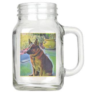 """Boomer"" Red Heeler Mason Drinking Jar"