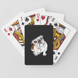 Boomer the Bulldog Playing Cards