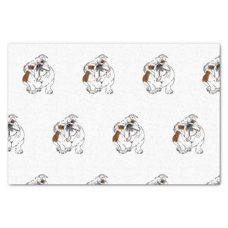 Boomer the Bulldog Tissue Paper