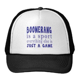BOOMERANG JUST A GAME TRUCKER HAT