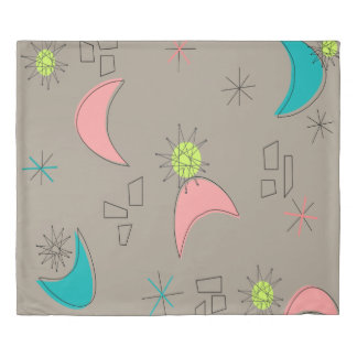 Boomerangs and Starbursts Duvet Cover