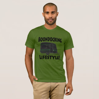 Boondocking Lifestyle Camper Design T-Shirt