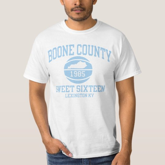 Boone County 1985 Sweet 16 Retro Design T-shirt