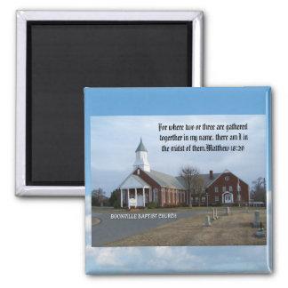 BOONVILLE BAPTIST CHURCH-MAGNET SQUARE MAGNET