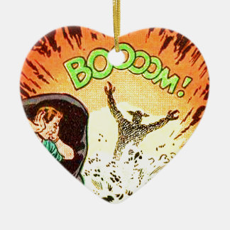 Boooom! Ceramic Ornament