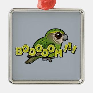 BOOOOM! Silver-Colored SQUARE ORNAMENT