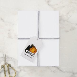 """Booooo!"" Halloween Pumpkin, Cats, Hat - Gift Tag Pack Of Gift Tags"