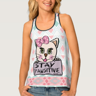 BooPooBeeDoo Art stay pawsitive Tank Top
